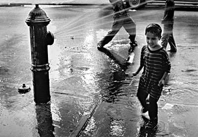 Brooklyn Kids Playing around Hydrant